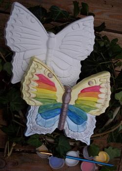 Vlinder met ophanghaakje beschilderen